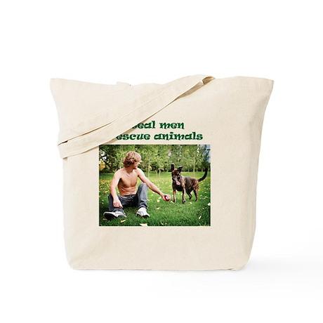 Real Men Rescue Animals Tote Bag