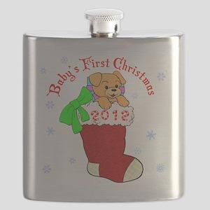 Babys 1st Christmas 2012 Flask