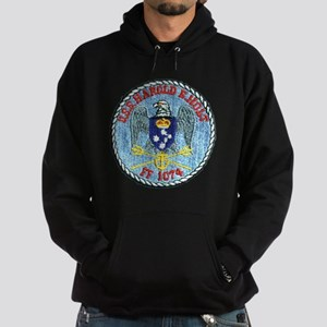 uss harold e. hold ff patch transpar Hoodie (dark)