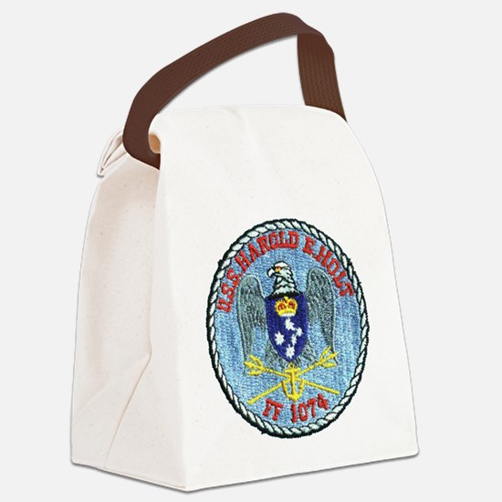 uss harold e. hold ff patch trans Canvas Lunch Bag