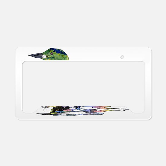 Colorful Loon License Plate Holder