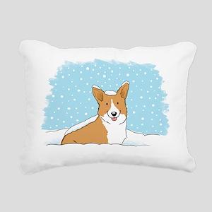 corgiLETITSNOW Rectangular Canvas Pillow