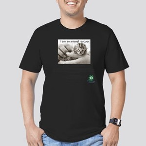 I am an Animal Rescuer Men's Fitted T-Shirt (dark)