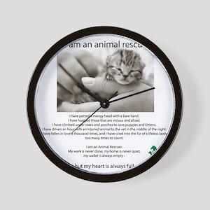 I am an Animal Rescuer Wall Clock