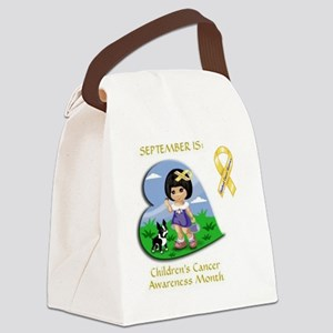 """KNOW YOUR COLORS"" GOLD = CURE 4  Canvas Lunch Bag"