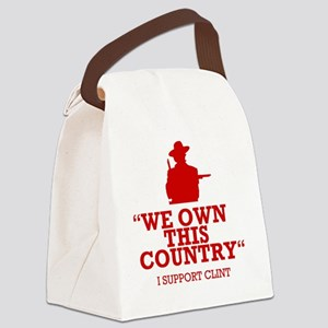 We Own This County - Clint Eastwo Canvas Lunch Bag