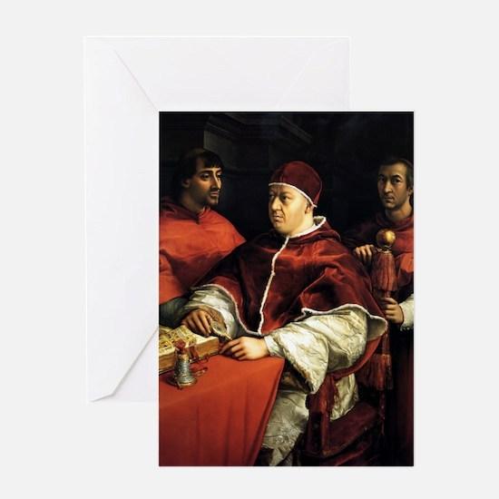 Pope Leo X - Raphael Greeting Card