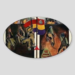 International Brigades Sticker (Oval)