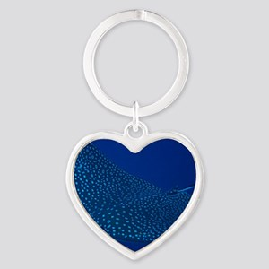 Spotted Eagle Ray 16 x 20 Print Heart Keychain