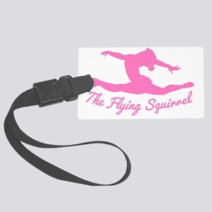 Tshirts-Girl-Solid-Pink Large Luggage Tag