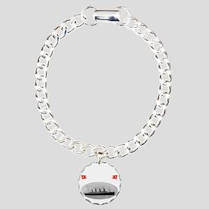 TG214x14whiteletTRANSBES Charm Bracelet, One Charm