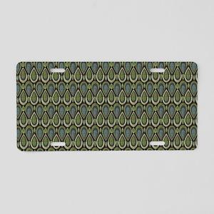 Art Deco Peacock Aluminum License Plate