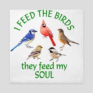 Bird Feeder Queen Duvet