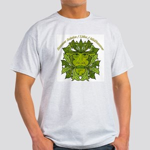 The Greenman of the Summer Solstice Ash Grey T-Shi