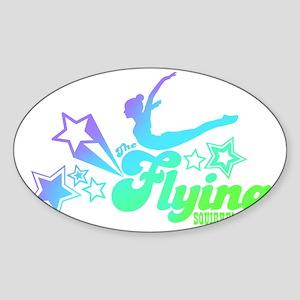 Tshirts-Size-Stars-Logo-Rainbow-Pur Sticker (Oval)