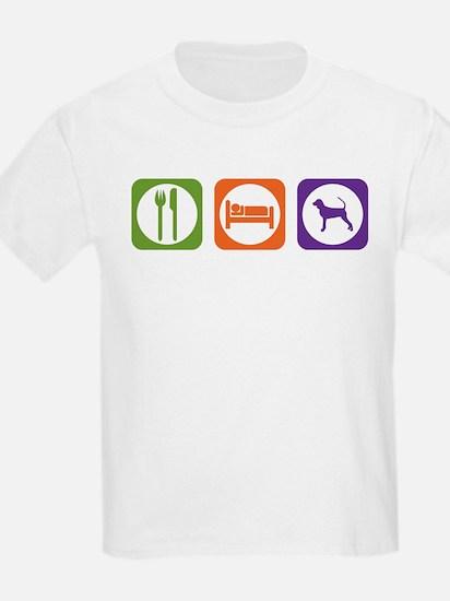 Eat Sleep Black and Tan Kids T-Shirt
