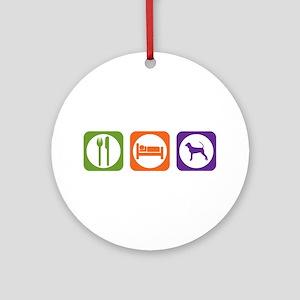 Eat Sleep Black and Tan Ornament (Round)