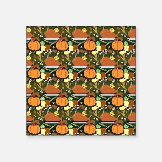 "Pumpkin Square Sticker 3"" x 3"""