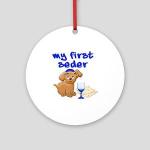 my first Seder Round Ornament
