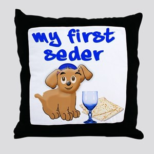 my first Seder Throw Pillow