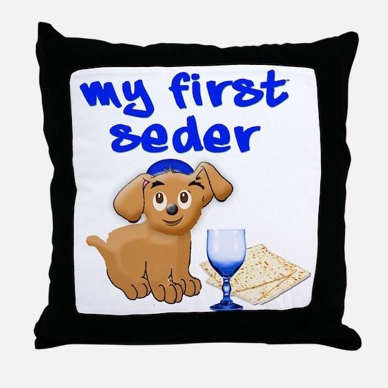 my first Seder Throw Pillow