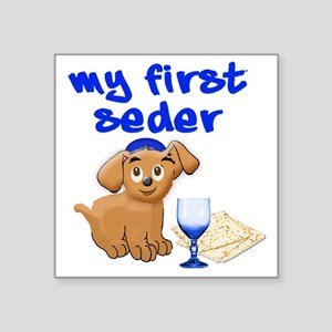 "my first Seder Square Sticker 3"" x 3"""
