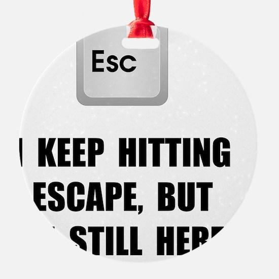 Hitting Escape Key Ornament