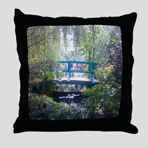 Monet Bridge Horizontal Throw Pillow