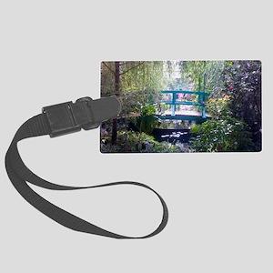 Monet Bridge Horizontal Large Luggage Tag