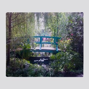 Monet Bridge Horizontal Throw Blanket