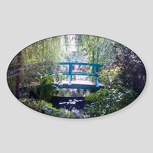 Monet Bridge Horizontal Sticker (Oval)