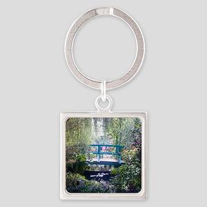 Monet Bridge Horizontal Square Keychain