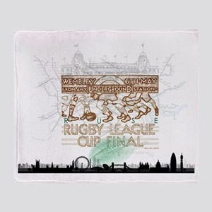Rugby League Cup Throw Blanket