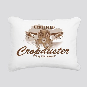 CropDuster Rectangular Canvas Pillow