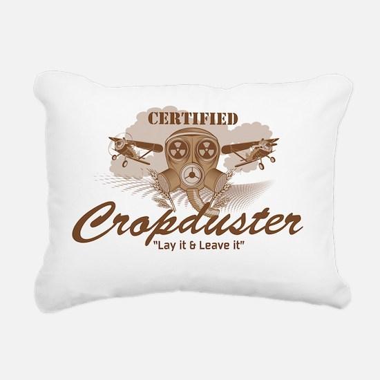 CropDuster Rectangular Canvas Pillow