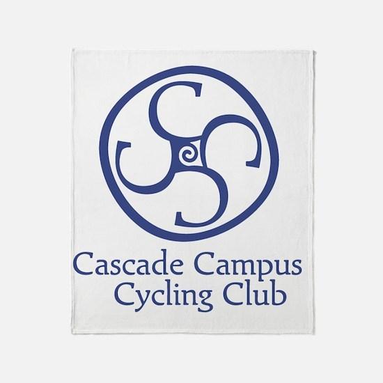 Cascade Campus Cycling Club Throw Blanket