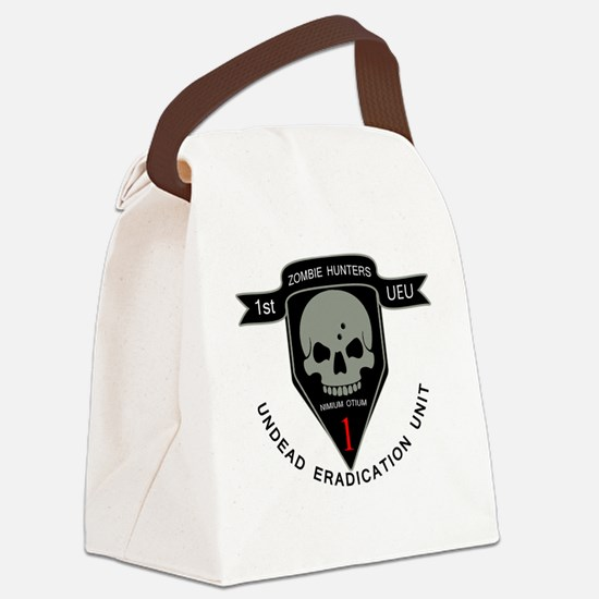 1st Zombie Hunters Canvas Lunch Bag