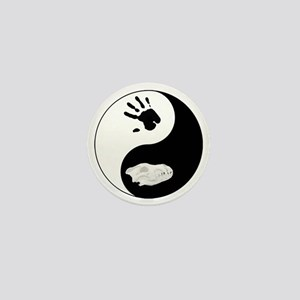 Dire Wolf Therian Ying Yang Mini Button
