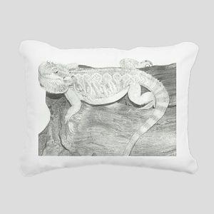 Pencil drawing of a Bear Rectangular Canvas Pillow