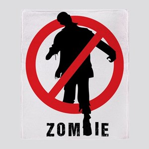 No Zombie Throw Blanket