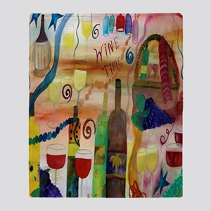 Wine Time Throw Blanket