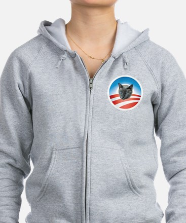 Cats for Obama 2012 Zip Hoodie