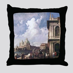 Piazza in Venice by Canaletto Throw Pillow