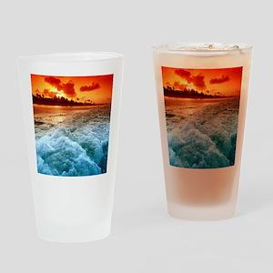Sunset Beach Drinking Glass