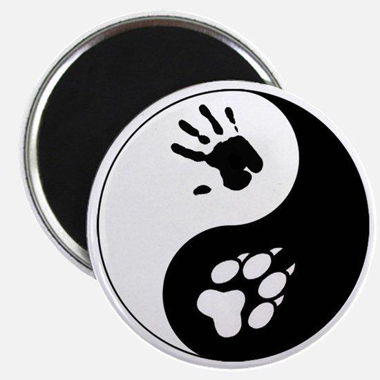 Wolf Therian Ying Yang Magnet