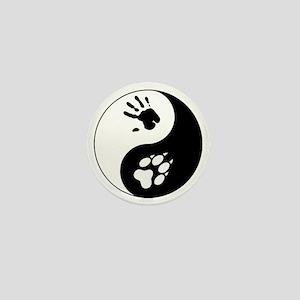 Wolf Therian Ying Yang Mini Button