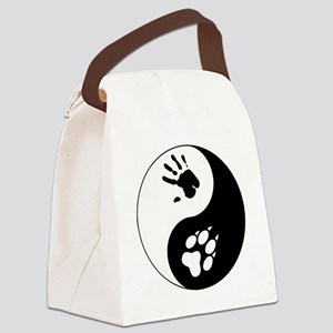 Wolf Therian Ying Yang Canvas Lunch Bag