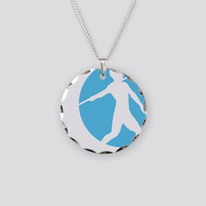 spear throwing Necklace Circle Charm