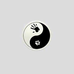 Cat Therian Ying Yang Mini Button
