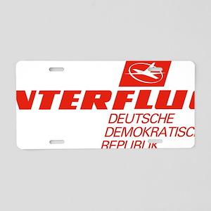 Interflug Aluminum License Plate
